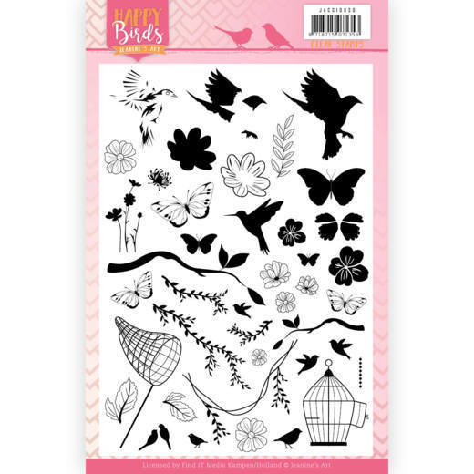 JACS10030 Clear Stamps - Jeanine's Art - Happy Birds (HJ179)