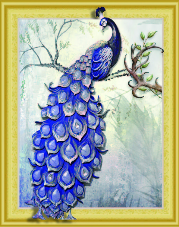 WD 050 diamond painting 3 D framed Pauw 40 x 50