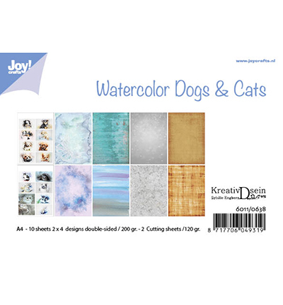 Papierset - Bille - Design Aquarell Dogs & Cats