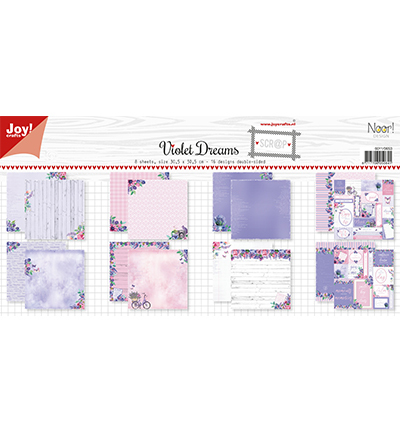 Papierset-Noor- Design Violet Dreams
