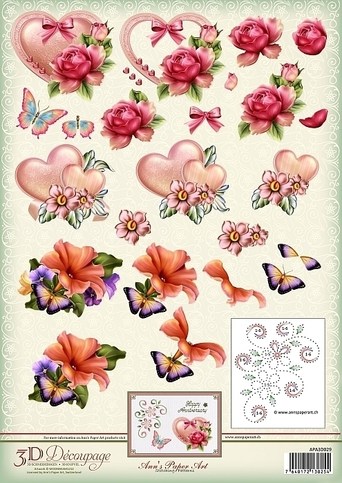 3D cutting sheet - Ann's Paper Art - Art and Love and Romance