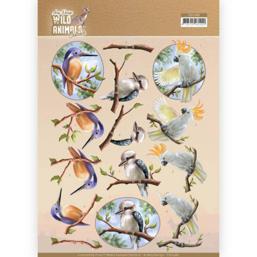 3D Cutting sheet - Amy Design - Wild Animals Outback - Parrot