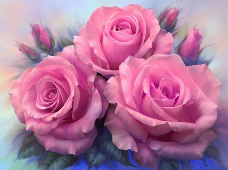 Diamond Painting rose roses