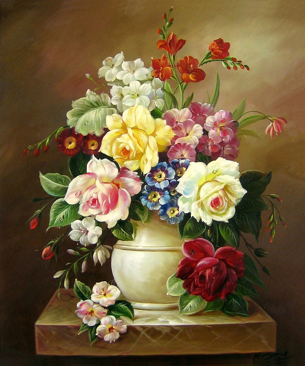 Diamond Painting bloemen vintage