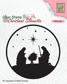 Clear stamps Christmas Silhouette Nativity-3