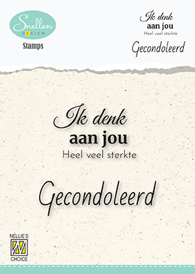 Dutch Condolence Text Clear Stamps nr. 2 Ik denk aan jou