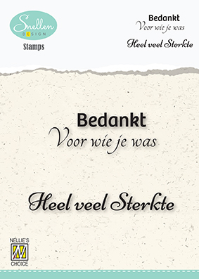 Dutch Condolence Text Clear Stamps nr. 4 Bedankt voor wie je was