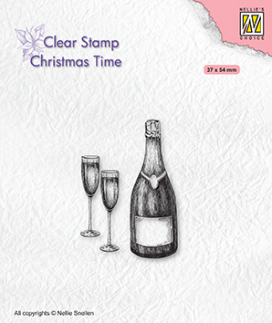 CT039 Clear stamps Christmas time Happy New Year