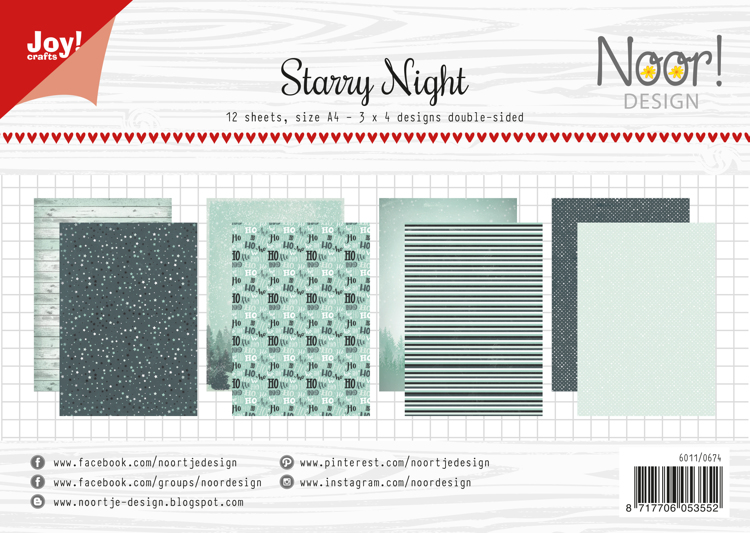 Papierset - Noor - Design Starry Night