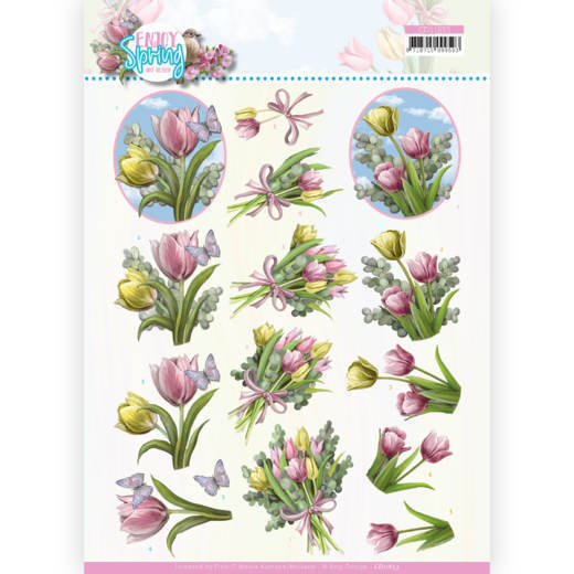 3D Cutting Sheet - Amy Design - Enjoy Spring - Bouquets of Tulips