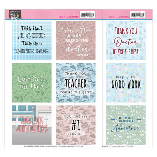 YCTD1008 Text Designs -Yvonne Creations - Bubbly Girls - Professions