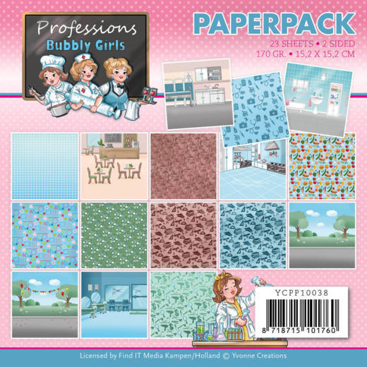 YCPP10038 Paperpack - Yvonne Creations - Bubbly Girls - Professions