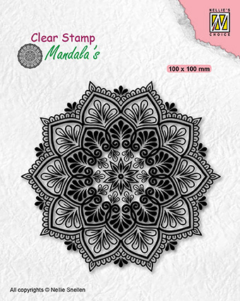 CSMAN006 Clear stamps mandala Starflower