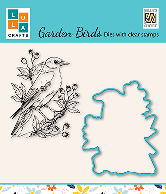 HDCS009 Die & clear stamp set 1: Garden bird-1