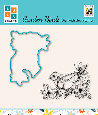 HDCS010 Die & clear stamp set 2: Garden bird-2